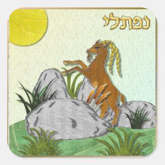 Judaica 12 Tribes Of Israel Naphtali Square Sticker