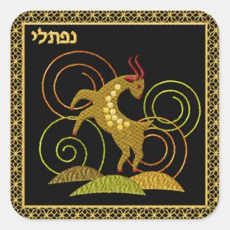 Judaica 12 Tribes of Israel Square Sticker Naftali
