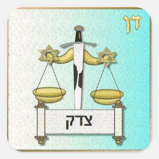 Judaica 12 tribus Israel Dan Pegatina Cuadrada