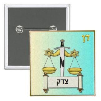 Judaica 12 tribus Israel Dan Pin Cuadrada 5 Cm