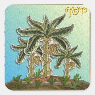 Judaica 12 tribus Israel José Pegatina Cuadrada
