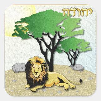 Judaica 12 tribus Israel Judah Pegatina Cuadrada