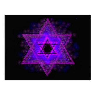 Judaica,… brillando intensamente en oscuridad tarjetas postales