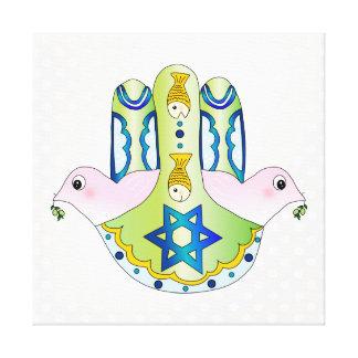 Judaica de Hamsa Impresiones En Lona