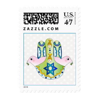 Judaica de Hamsa Timbre Postal