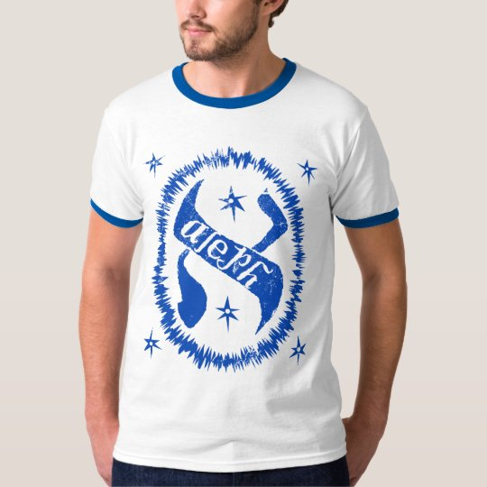 Judaica Distressed Glowing Aleph Royal T-Shirt