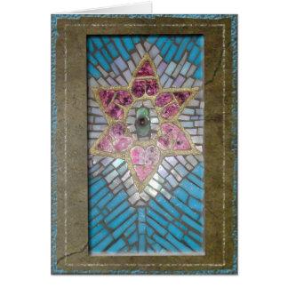 Judaica: Estrella de los corazones del mosaico del Tarjeta De Felicitación