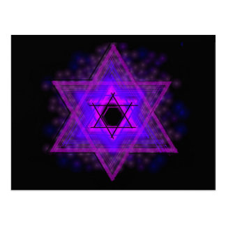 Judaica,... glowing in darkness postcard