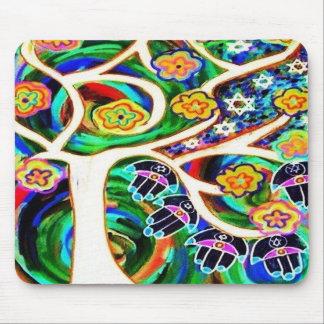 Judaica Hamsa Ivory Tree Of Life Mousepad