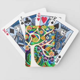 Judaica Hamsa Ivory Tree Of Life Bicycle Playing Cards