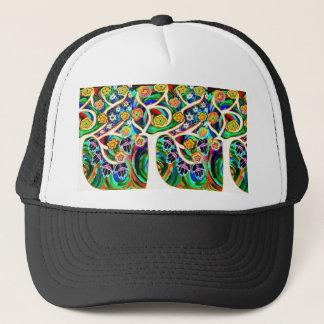 Judaica Hamsa Ivory Tree Of Life Trucker Hat