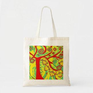 Judaica Hamsa Tree Of Life Green Tote Bag