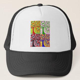 Judaica Hamsa Tree Of Life Sunrise Trucker Hat