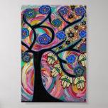 Judaica Hamsa Tree Of Life Sunset Poster