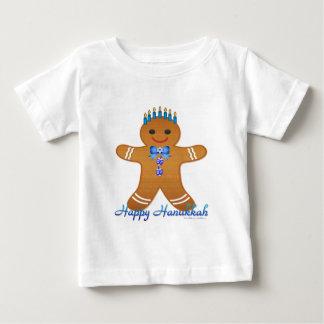 Judaica Hanukkah Gingerbread Man Menorah Baby T-Shirt