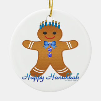 Judaica Hanukkah Gingerbread Man Menorah Christmas Tree Ornaments