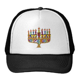 Judaica Happy Hanukkah Dreidel Menorah Trucker Hat