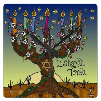Judaica L'shanah Tovah Tree Of Life Clock