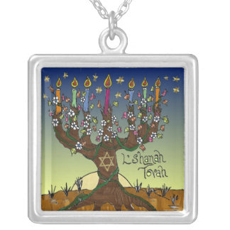 Judaica L'shanah Tovah Tree Of Life Necklace