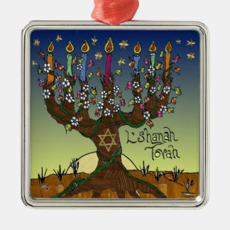 Judaica L'shanah Tovah Tree Of Life Ornament