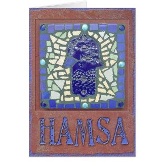 Judaica: Mosaic Glowing Hamsa Cards
