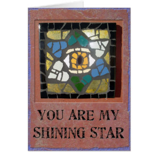 Judaica: Mosaic Hearts Star of David with Evil Eye Greeting Cards