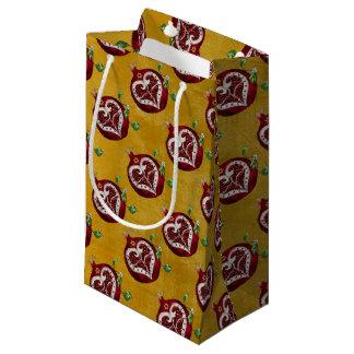 Judaica Pomegranate Heart Hanukkah Rosh Hashanah Small Gift Bag