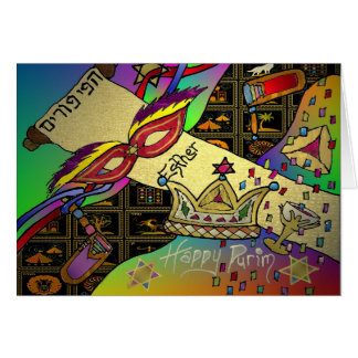 Judaica Purim Esther Celebration Art Print Card
