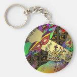 Judaica Purim Esther Celebration Art Print Basic Round Button Keychain