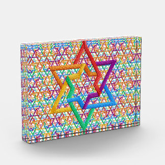 Judaica Rainbow Star of David Award