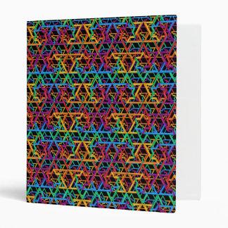 Judaica Rainbow Stars of David 3-Rings Binder