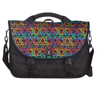 Judaica Rainbow Stars of David Commuter Laptop Bag
