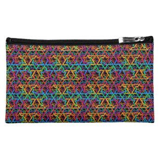 Judaica Rainbow Stars of David Cosmetic Bag