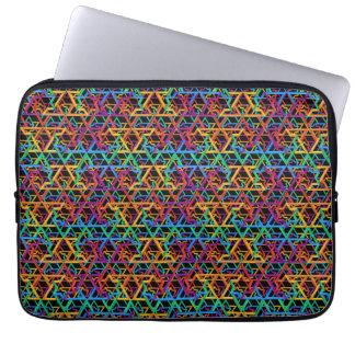 Judaica Rainbow Stars of David Laptop Sleeve