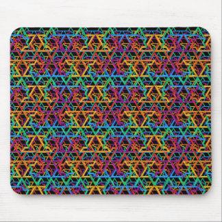 Judaica Rainbow Stars of David Mosepad Mouse Pad