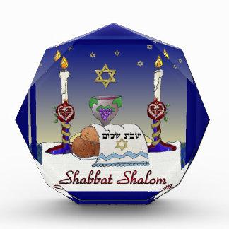 Judaica Shabbat Shalom Art Print Acrylic Award