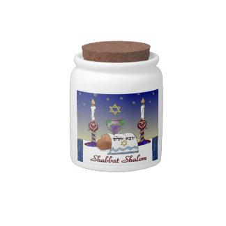 Judaica Shabbat Shalom Art Print Candy Jars