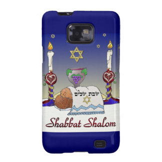 Judaica Shabbat Shalom Art Print Samsung Galaxy SII Cases