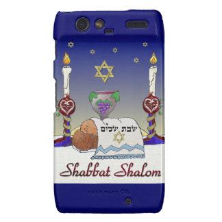 Judaica Shabbat Shalom Art Print Droid RAZR Cover