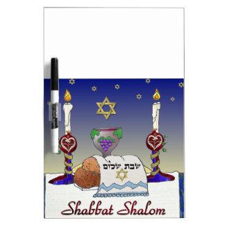 Judaica Shabbat Shalom Art Print Dry-Erase Whiteboards