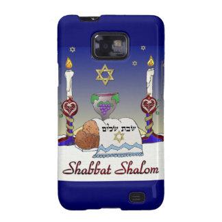 Judaica Shabbat Shalom Art Print Galaxy SII Case
