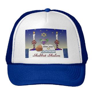 Judaica Shabbat Shalom Art Print Mesh Hats