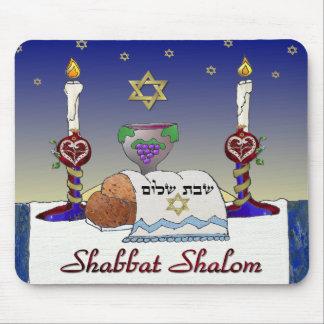 Judaica Shabbat Shalom Art Print Mousepad