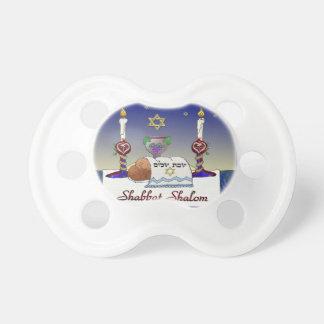 Judaica Shabbat Shalom Art Print Pacifiers