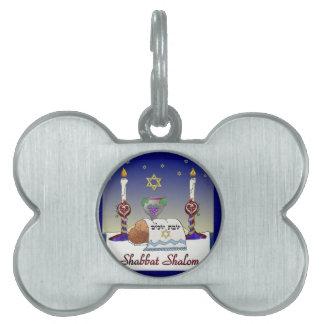 Judaica Shabbat Shalom Art Print Pet ID Tag