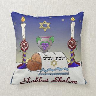Judaica Shabbat Shalom Art Print Pillow