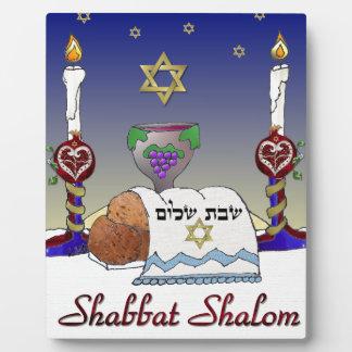 Judaica Shabbat Shalom Art Print Plaque