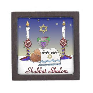Judaica Shabbat Shalom Art Print Premium Jewelry Box