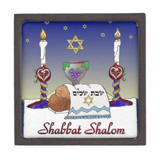 Judaica Shabbat Shalom Art Print Premium Trinket Box