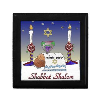 Judaica Shabbat Shalom Art Print Trinket Boxes